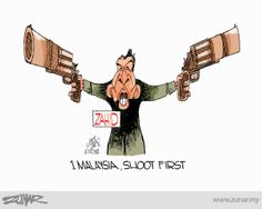 1Malaysia, Shoot First then Interogate #malaysia #zahid #moron #corruption #idiot