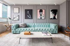 Living Room Green, Home Living Room, Interior Design Living Room, Living Room Designs, Living Room Decor, Room Colors, Sofa Design, Architecture, Home Decor