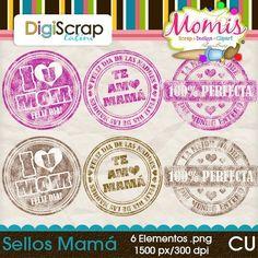 Sellos Mamá - $2.00 : DigiScrap Latino