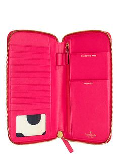 I want the rose gold travel wallet :D |Kate Spade