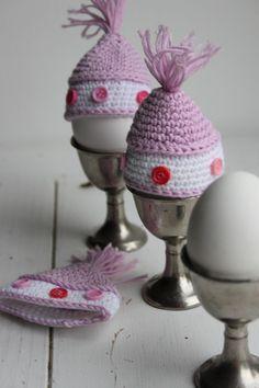 Mutsje voor eieren uit inhaken op de lente - eiwarmers