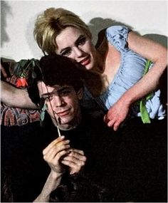 """Lou Reed of the Velvet Underground and Edie Sedgwick. Lou wrote the song """"Femme Fatale"""" about Sedgwick at the request of Andy Warhol about Sedgwick but gave it to Nico to sing. Warhol was involved with The Factory and the Velvet Underground."""
