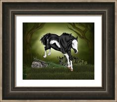 Horse Framed Print featuring the digital art Wild One by Sally Lannier