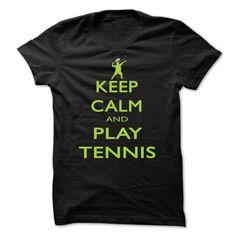 Keep calm and play tennis #lace tee #cute hoodie. SATISFACTION GUARANTEED  => https://www.sunfrog.com/Funny/Keep-calm-and-play-tennis-bpsd.html?id=60505