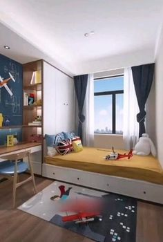 Children bedroom decor Children bedroom decor and room design for two children are an important element of creating functional and comfortable home for your Bedroom Bed Design, Design Living Room, Small Bedroom Designs, Small Room Bedroom, Home Decor Bedroom, Small Attic Bedrooms, Raised Beds Bedroom, Kids Bedroom Dream, Small Bedroom Interior