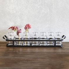 Apothecary Bottles with Tray - Set of 7 Love these perfect for the table.