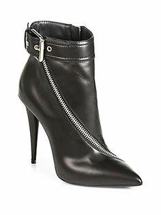 #SLOBBERIN!!!! Giuseppe Zanotti Asymmetrical-Zip Leather Ankle Boots
