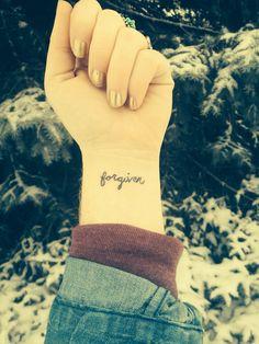 ||forgiven wrist tattoo||