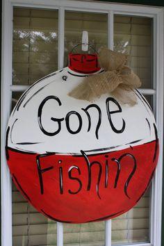 Fishing Door Hanger by AllThingsNicole on Etsy, $39.00