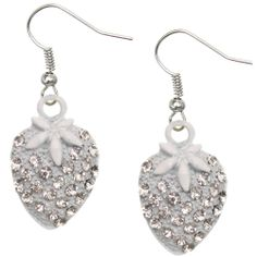 Candy Luxx - White Rhinestone Mini Strawberry Dangle Earrings, $5.99 (http://www.candyluxx.com/products/white-rhinestone-mini-strawberry-dangle-earrings.html)