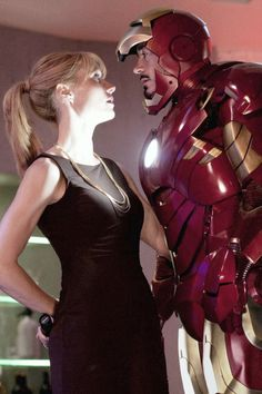 Iron Man and Pepper Potts<3