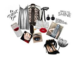 """""""Happy New Year"""" by beatriz-2000-azevedo ❤ liked on Polyvore featuring River Island, Gianvito Rossi, Wet Seal, Jaeger and Lime Crime"""