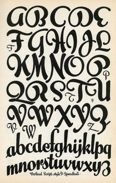 Vertical Script - Fonts - Ideas of Fonts - Lettering Fonts Alphabet I like the loopy natural flow of the curves in the Hand Lettering Fonts, Creative Lettering, Lettering Styles, Lettering Design, Cool Handwriting Fonts, Lettering Tutorial, Handwritten Fonts, Graffiti Font, Graffiti Alphabet