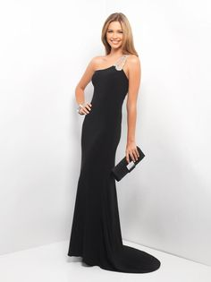 d8234f1c1060c Blush Prom 9523 - Jeweled elegance in a formal prom dress! Sexy jersey  drapes your silhouette as intimate stones create a powerful one-shoulder and  strappy ...