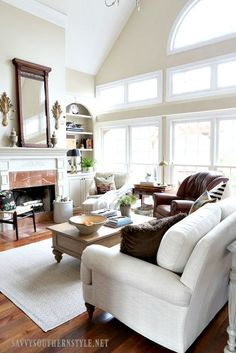 Creating cozy in a neutral living room.