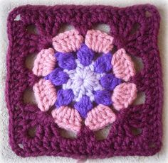 8 petal granny square