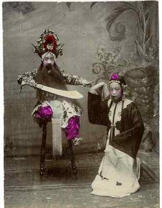 Beijing Opera Vintage print, China Tirage citrate 9x12 Circa 18