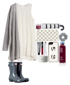 """classic rainy days"" by mhallmark ❤ liked on Polyvore featuring Chelsea Flower, Hunter, Natasha Couture, Louis Vuitton, Kate Spade, Byredo, Sara Happ, MANGO, NARS Cosmetics and Rodin Olio Lusso"
