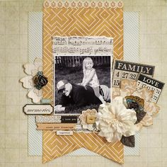 My Creative Scrapbook October Main Kit Reveal Giveaway Alert My Mind's Eye The Sweetest Thing as well as from Basic Grey Clippings Kids Scrapbook, Wedding Scrapbook, Scrapbook Cards, Scrapbooking Ideas, Scrapbook Sketches, Scrapbook Page Layouts, Scrapbook Designs, Cute Scrapbooks, Layout Inspiration