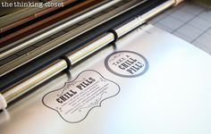 """Time to cut our """"Chill Pill"""" bottle labels on our Silhouette machine using registration marks! via thinkingcloset.com"""