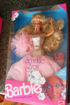 1991 SPARKLE EYES BARBIE Bought when my daughter was 7. She liked playing He-man and She-ra.