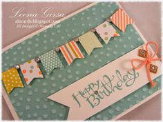 Stampin' Up! Birthday by Leena G at A La Cards: Another Sale-a-bration Sneak Peek