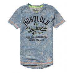 Vingino Himon Blue Flower Jongens t-shirt korte mouw Direct leverbaar uit de webshop van www.humpy.nl/