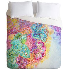 DENY Designs Stephanie Corfee Flourish Duvet Cover ($80) ❤ liked on Polyvore featuring home, bed & bath, bedding, duvet covers, deny designs and deny designs bedding