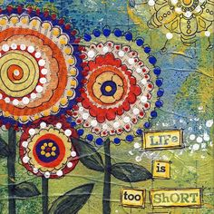 5x7 Art Card Life is Too Short for Beige  from by JoyHanna on Etsy, $5.00