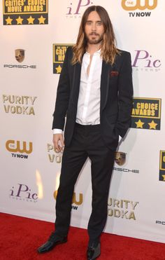 American singer and actor, Jared Leto during Critics' Choice Movie Awards Critic Choice Awards, Critics Choice, Jared Leto Workout, Jared Leto 2014, Gorgeous Men, Beautiful People, Jered Leto, Famous Vegans, Dallas Buyers Club