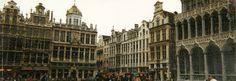 Panorama Shot of La Grande Place, Brussels, Belgium (3) (April 2000)
