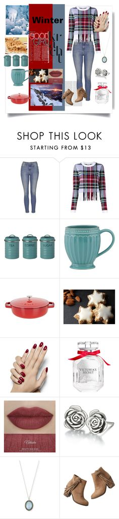 """""""Winter fun"""" by mram1711 ❤ liked on Polyvore featuring Topshop, Chloé, Typhoon, Lenox, Staub, Victoria's Secret, Chamilia, Armenta, maurices and women's clothing"""