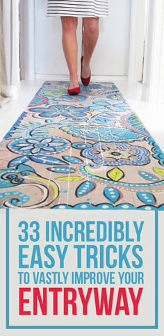 33 Incredibly Easy Tricks To Vastly Improve Your Entryway | or various parts of your house :)