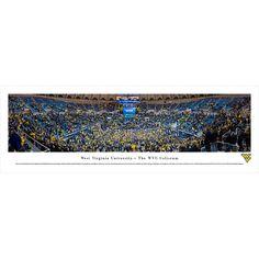 Worldwide Blakeway Panoramas West Virginia Basketball Framed Print