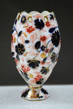 RARE C.1880 Antique Coalport reticulated Imari floral patterned vase | eBay