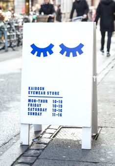Re-Branding, custom made typography and store concept for a Norwegian eyewear brand. Wayfinding Signage, Signage Design, Branding Design, Identity Branding, Corporate Design, Visual Identity, Graphic Design Tips, Graphic Design Typography, Graphic Design Inspiration