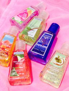 Bath and body works anti bacterial mini gels,sents like sweet pea, island nectar, freshed picked apple ect.