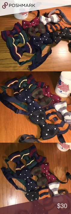 Nine Pre-Tied, Hand-Knit Bow Ties Nine Pre-Tied, Hand-Knit Bow Ties. Excellent Condition. Price Reflects Purchase of Collection. Negotiate Price(s) Accessories Ties