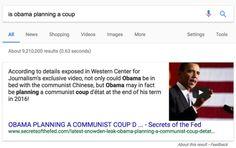 """""""¿Está Obama planeando un golpe de estado?"""" y otras preguntas semejantes"""