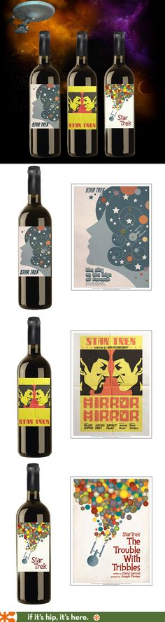 Star Trek Wines with label art by Juan Ortiz.
