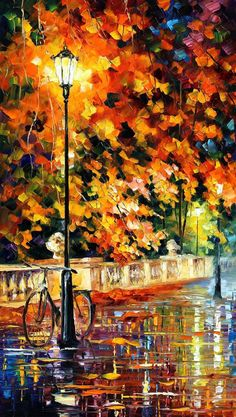 Bicycle Wall Art Alley Painting On Canvas By Leonid Afremov - Lonely Bicycle. Size: X Inches cm x 90 cm) - painting Bicycle Painting, Bicycle Art, Bicycle Design, Oil Painting On Canvas, Painting Art, Knife Painting, Painting Clouds, Faux Painting, Painting Flowers