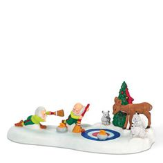 """Department 56: Products - """"The North Pole Curling Team"""" - View Accessories"""