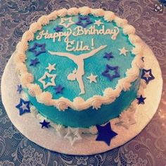 Features edible fondant gymnast cake decor set with stars Dance Birthday Cake, Gymnastics Birthday Cakes, Gymnastics Party, 11th Birthday, Birthday Parties, Birthday Ideas, Cheerleading Cake, Volleyball Cakes, Cheer Cakes