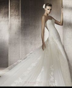 Puffy Ball Gown Sweetheart Floor-length Lace White Wedding Dresses - $196.99 - Trendget.com