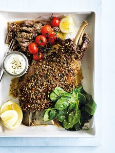 slow-roasted dukkah lamb shoulder from donna hay