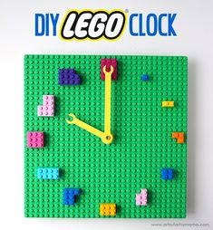 LEGO Clock Make your own custom clock out of LEGO bricks!Make your own custom clock out of LEGO bricks! Lego For Kids, Diy For Kids, Crafts For Kids, Diy Crafts, Lego Duplo, Sala Geek, Legos, Deco Lego, Lego Hacks
