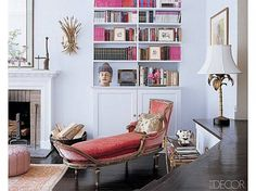 Candace Bushnell channels Carrie Bradshaw in this swanky home. #NYC #interiordesign #decor