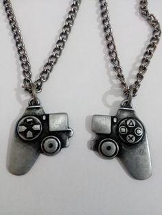 colar duplo joystick controle playstation amizade namorados