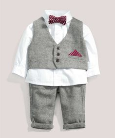 Boys Welcome to the World Four Piece Waistcoat Set - Welcome To The World - Mamas & Papas so cute!