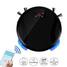 New Advanced WiFi APP Remote Control Wet and Dry Mop Robot Vacuum Cleaner For Home with 280ML water tank and 700ML dustbin